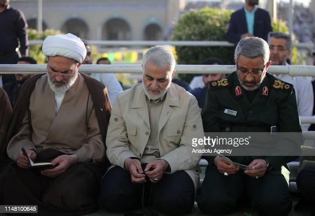 Major general Qasem Soleimani performS Eid alFitr Prayer at Grand Prayer Grounds in Tehran Iran on June 5 2019 Muslims around the world celebrate Eid...