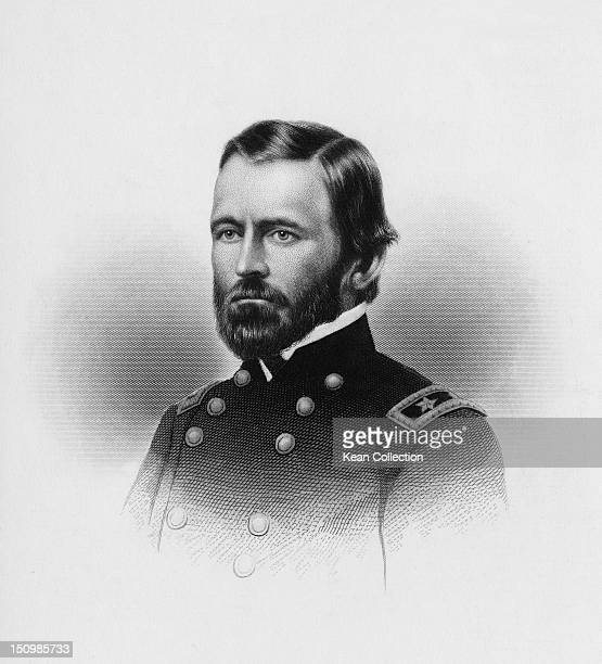 Major General Ulysses Simpson Grant American Civil War officer and 18th President of the United States circa 1862 Engraved by A H Ritchie
