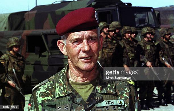 Major General Volker Loew commander of the Kommando Luftbewegliche Kraefte meaning Commando Mobile Airforces and also rof the 4th Division in...