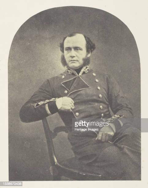 Major Gen'l Charles Ashe Windham, 1855. A work made of salted paper print, plate 10 from the album 'photographs taken in the crimea' . Artist Roger...