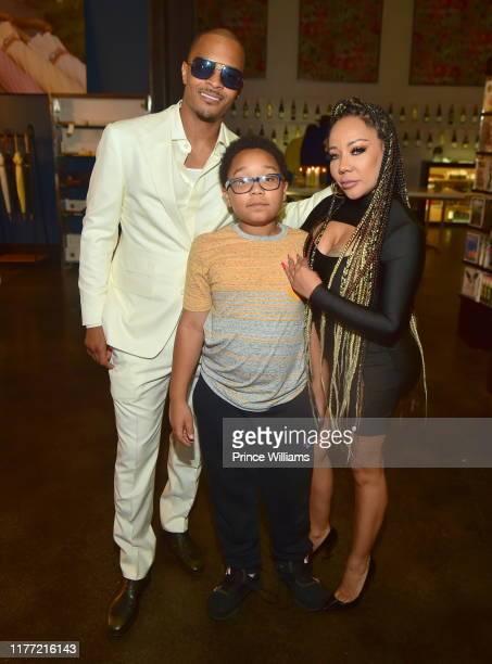 Major Harris and Tameka Harris attend A Private Birthday Celebration Honoring TIP at The Brasserie Atlanta on September 25, 2019 in Atlanta, Georgia.