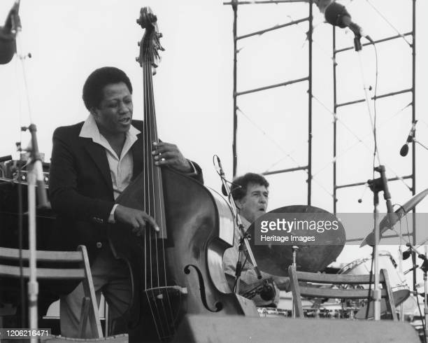 Major Holley and Shelly Manne, Capital Radio Jazz Festival, 1979. Artist Brian Foskett.