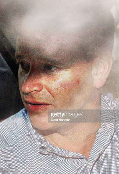 Major James Hewitt the former lover of Diana Princess of Wales leaves a police station on July 22 2004 in London England Hewitt was arrested in a...