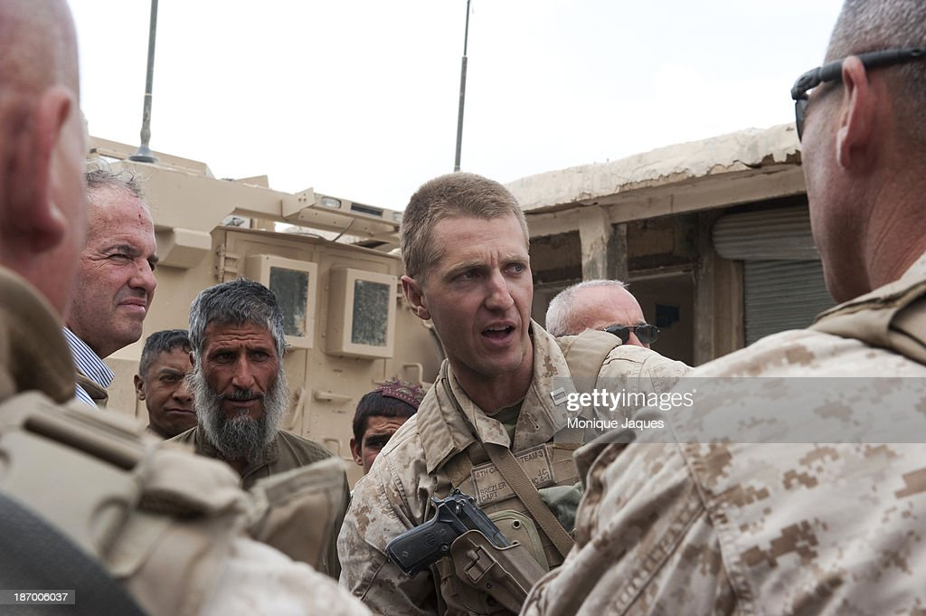 Major Jason Brezler... : News Photo