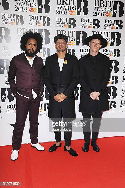 Major Lazer attends the BRIT Awards 2016 at The O2 Arena on February 24 2016 in London England