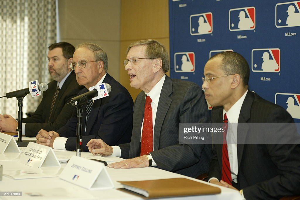 Major League Baseball Commissioner Allan H. 'Bud' Selig during the press conference to announce the naming of the panel to invesitage steroid use in MLB at the Major League Baseball offices in New York, New York on March 30, 2006.