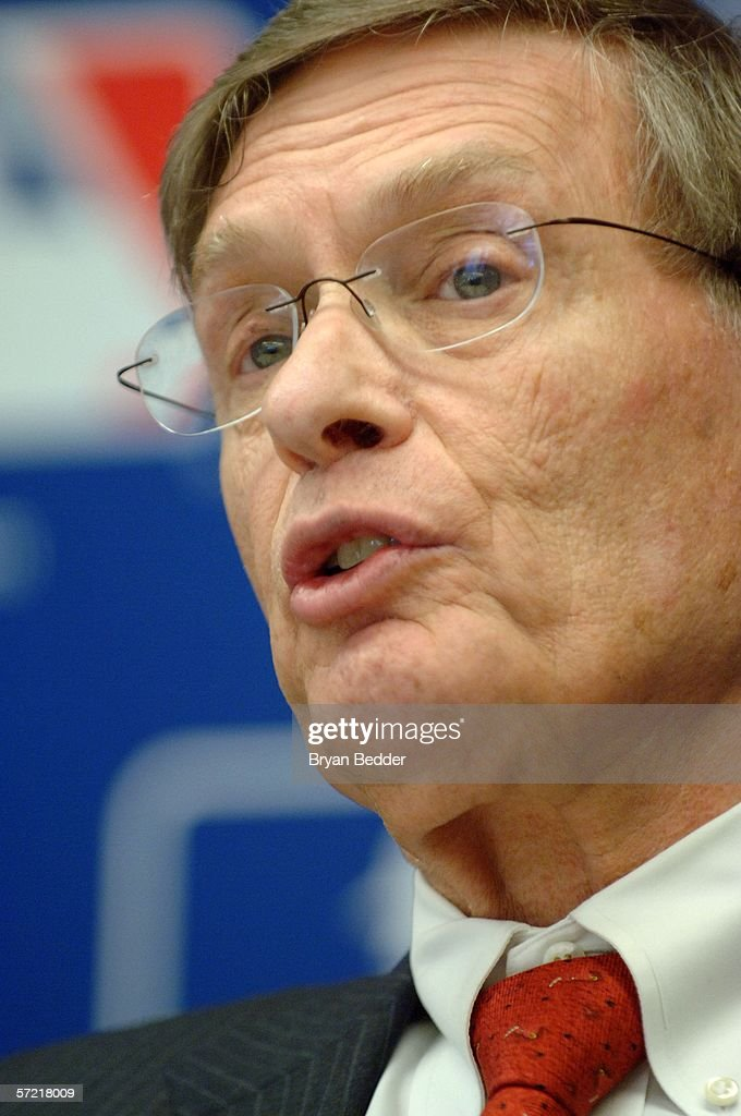 Major League Baseball Commissioner Allan H. 'Bud' Selig listens to questions during a press conference on steroid use in Major League Baseball March 30, 2006 in New York City.