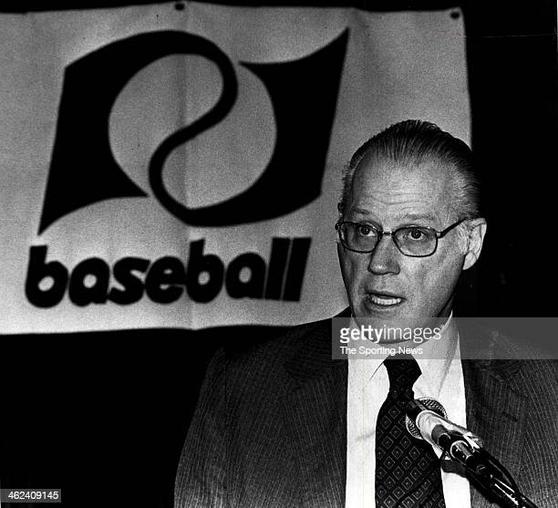 Major League Baseball Commissioner Bowie Kuhn circa 1975