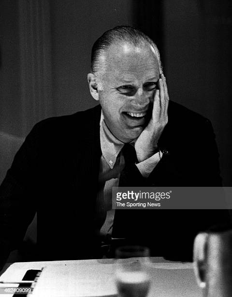 Major League Baseball Commissioner Bowie Kuhn smiles as he looks on circa 1971