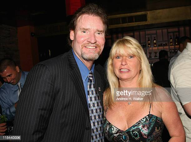 Major League Baseball Hall of Famer Wade Boggs and his wife Debbie attend the Getty Images and Johnnie Walker 2008 AllStar Game party at Tao on July...
