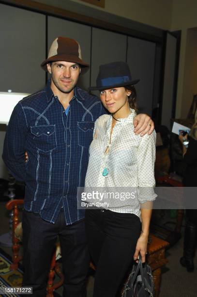 Major League Baseball player Barry Zito and amber Zito attend the Backstage Creations Celebrity Retreat at the 2012 American Country Awards at the...