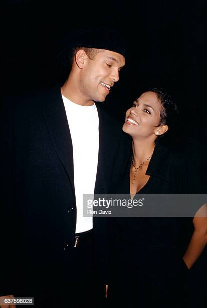 Major League Baseball player David Justice and wife actress Halle Berry attend the Grand Opening Celebration of the Hard Rock Hotel Hosted by Peter...