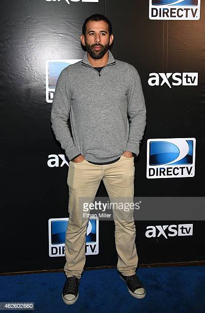 Major League Baseball player Jose Bautista attends DirecTV Super Saturday Night hosted by Mark Cuban's AXS TV and Pro Football Hall of Famer Michael...