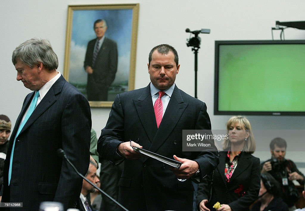 Major League Baseball player Roger Clemens testifies during a House Oversight and Government Reform Committee hearing February 13, 2008 in Washington, DC. The committee is hearing testimony on use of steroids and performance enhancing drugs in Major Leaue Baseball.