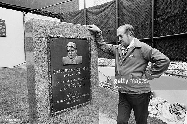 Major League Baseball 'Yankees vs Brewers' Pictured Sportscaster Hary Coyle at Yankee Stadium in New York NY on September 10 1976