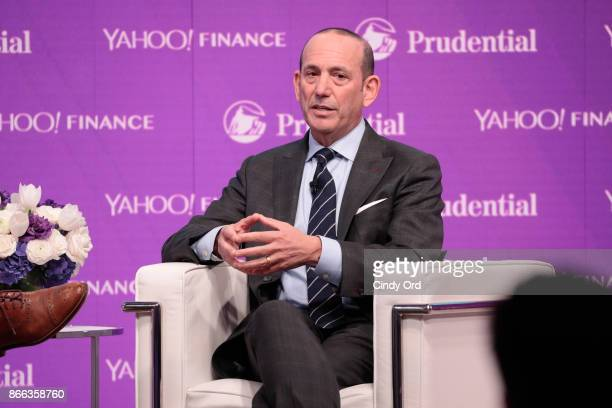 Major League Soccer Commissioner Don Garber speaks onstage at the Yahoo Finance All Markets Summit on October 25, 2017 in New York City.