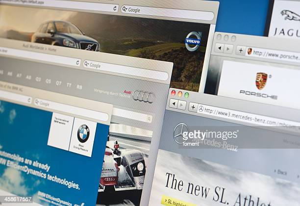 major luxury and sports cars manufacturers websites - audi car stock photos and pictures