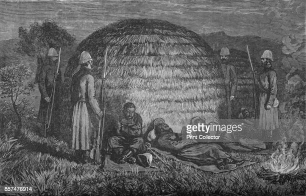 Major Marter and his men guarding Cetewayo in the native Kraal' circa 1880 Episode of the AngloZulu Wars From British Battles on Land and Sea Vol IV...