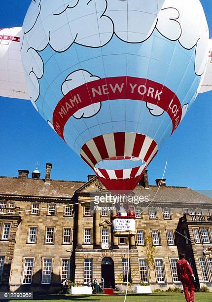 A major new tourism campaign is launched at Crathorne Hall Hotel Crathorne Yarm North Yorkshire 'Captain Cook' arrived in a hot air balloon courtesy...