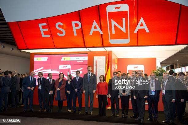 Major of Barcelona Ada Colau Catalan Parliament President Carme Forcadell President of the Catalan regional Government Carles Puigdemont Spain's King...