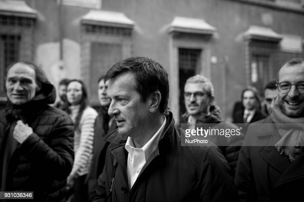 Major of Bergamo and Democratic Party member Giorgio Gori attends the party's directorate meeting in Rome after former Italian Premier Matteo Renzi...