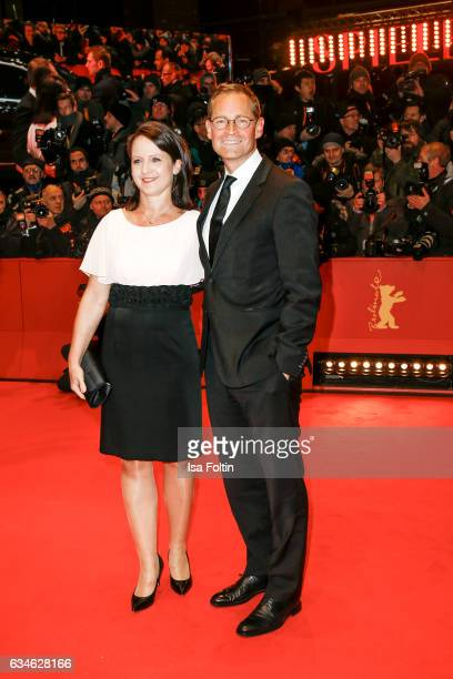 Major of Berlin Michael Mueller and his wife Claudia Mueller attend the 'Django' premiere during the 67th Berlinale International Film Festival...
