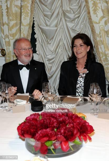 Major of Venice Giorgio Orsoni and princess Caroline of Hanover attend the Le Ballets de MonteCarlo 'Cendrillion' Gala Evening Bottega Veneta at...