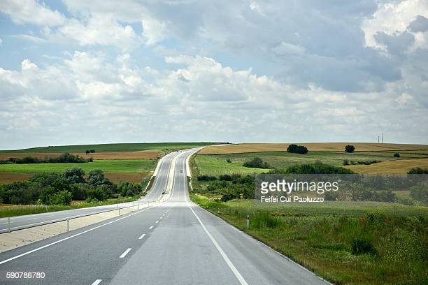 Major road near Edirne of Turkey