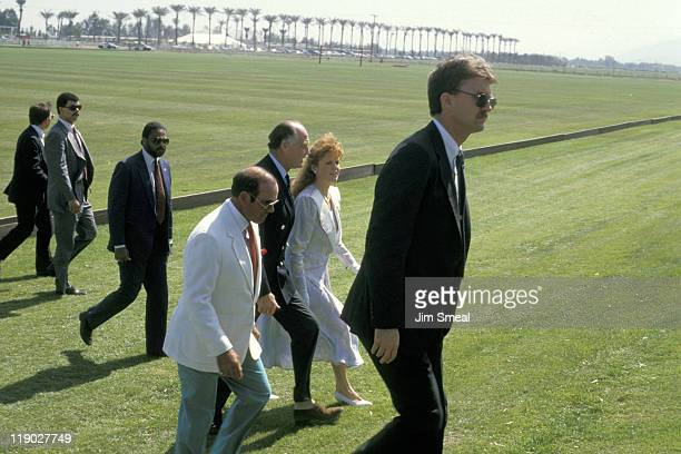 Major Ronald Ferguson and Sarah Ferguson during Cartier International Polo Luncheon at Eldorado Polo Club in Los Angeles California United States