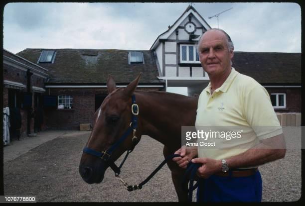 Major Ronald Ferguson with a Racehorse
