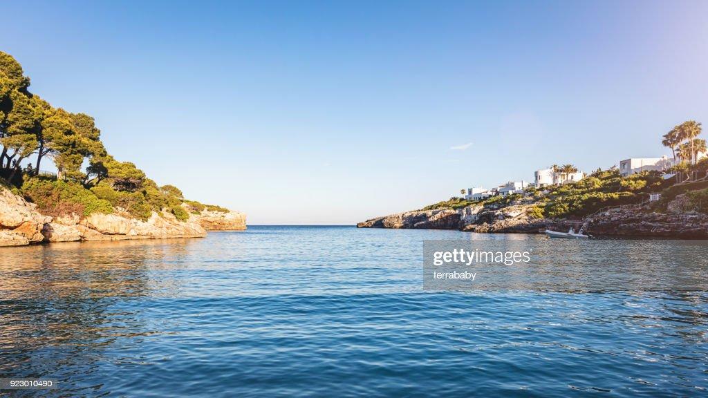 Majorca Sunset over Tranquil Bay : Stock Photo