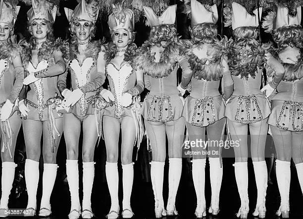 Majorette dancers at the carnival in Munich Photographer Gert Kreutschmann 1974Vintage property of ullstein bild