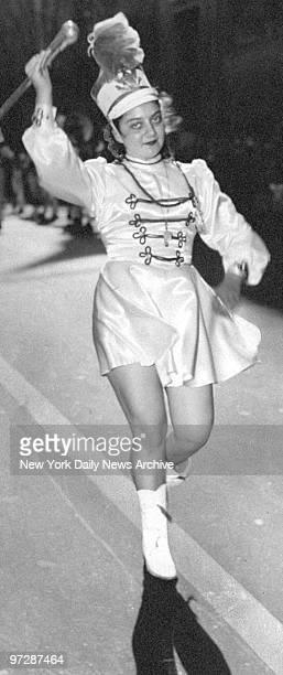 Majorette Gloria Moschella in the Columbus Day Parade