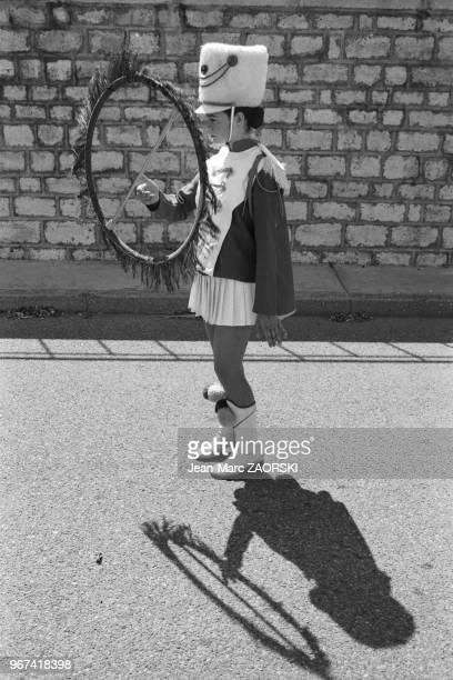 Majorette pendant les fêtes de la Tarasque fêtes traditionnelles le dernier week end de juin célébrant SainteMarthe et la Tarasque monstre légendaire...