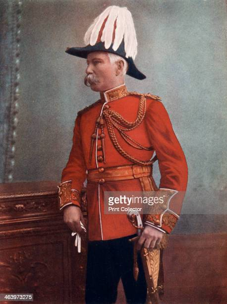 MajorGeneral GH Marshall Commanding Royal Artillery South Africa Field Force 1902 Portrait from Celebrities of the Army published by George Newnes