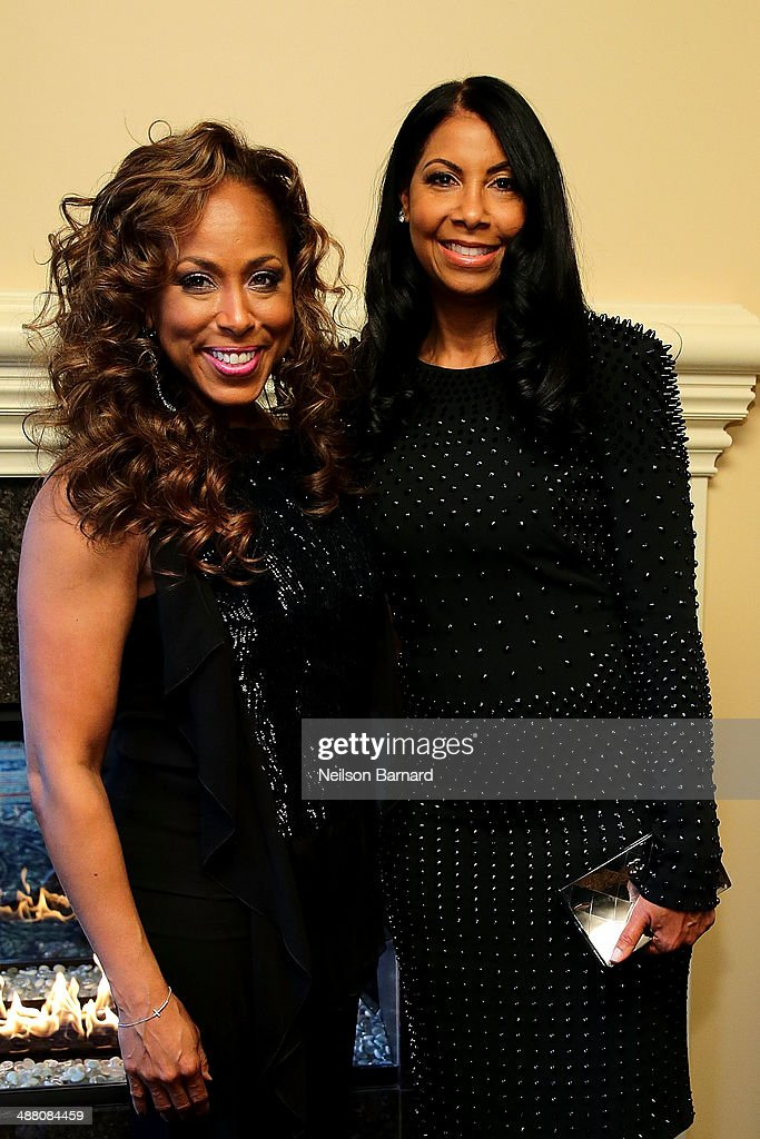 Majorie Harvey (L) and Cookie Johnson (L) attend the 2014 Steve & Marjorie Harvey Foundation Gala presented by Coca-Cola VIP Reception at the Hilton Chicago on May 3, 2014 in Chicago, Illinois.