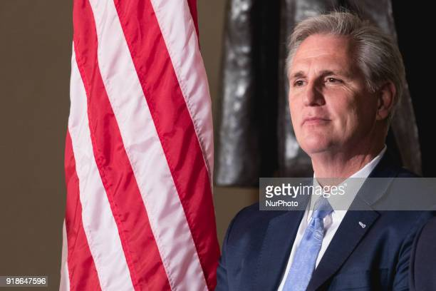 Majority Leader Kevin McCarthy cohosts the Commemoration of the Bicentennial of the Birth of Frederick Douglass in Emancipation Hall of the US...