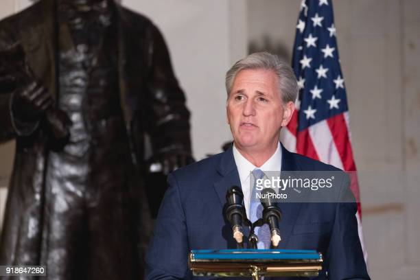 Majority Leader Kevin McCarthy speaks at the Commemoration of the Bicentennial of the Birth of Frederick Douglass in Emancipation Hall of the US...