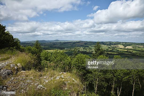 Major's Leap and view across Apedale, Wenlock Edge, Shropshire, England, United Kingdom.