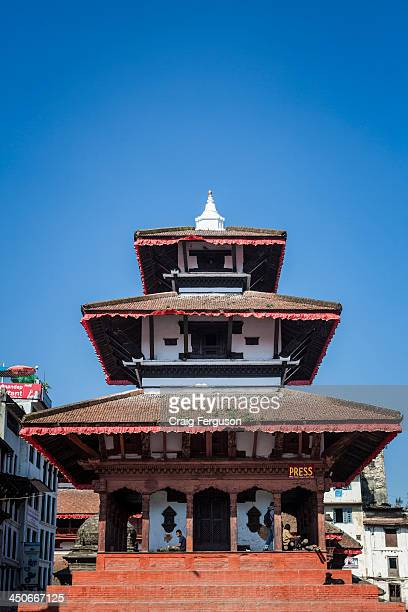 Maju Deval in Kathmandu's Durbar Square is a popular gathering place for locals and tourists alike The temple itself dates from 1690