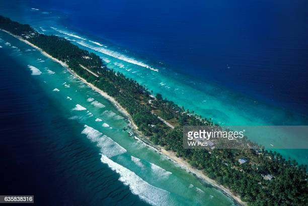 Majuro Island between Laura and DUD Majuro Atoll and Lagoon Marshall Islands Micronesia