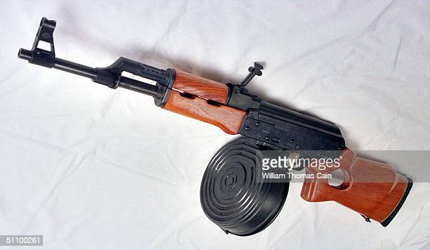 A Mak 90 Sporter SemiAutomatic Rifle With A 100 Round Magazine From A Private Collection Is Shown Tuesday August 24 In Philadelphia Pa