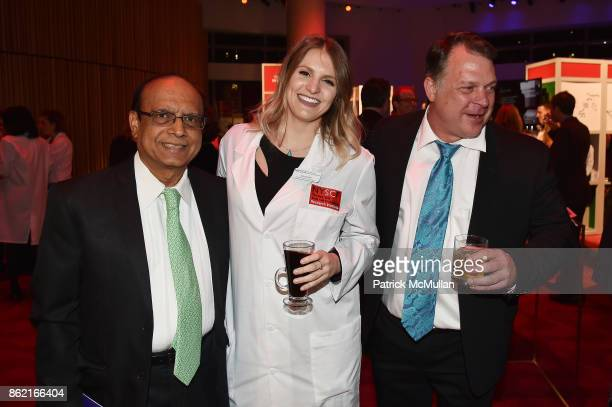 Mak Jawadekar Jenna Hall and Stephen Van Deventer attend the NYSCF Gala Science Fair at Jazz at Lincoln Center on October 16 2017 in New York City