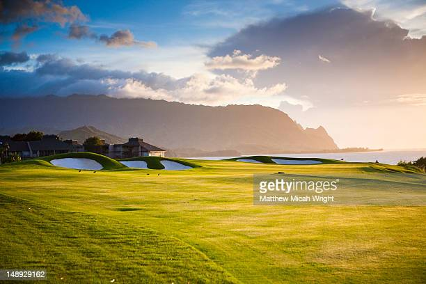 makai golf course. - golfplatz stock-fotos und bilder