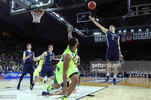 Makai Mason of the Yale Bulldogs shoots the ball in the second half against the Baylor Bears during the first round of the 2016 NCAA Men's Basketball...