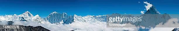 Makalu Ama Dablam Himalaya mountain peaks panorama Nepal
