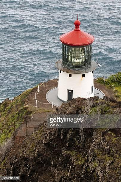 Makapu'u Lighthouse at the eastern end of the island O'ahu Hawaii Makapu_u Point Lighthouse is a 46foottall active United States Coast Guard...