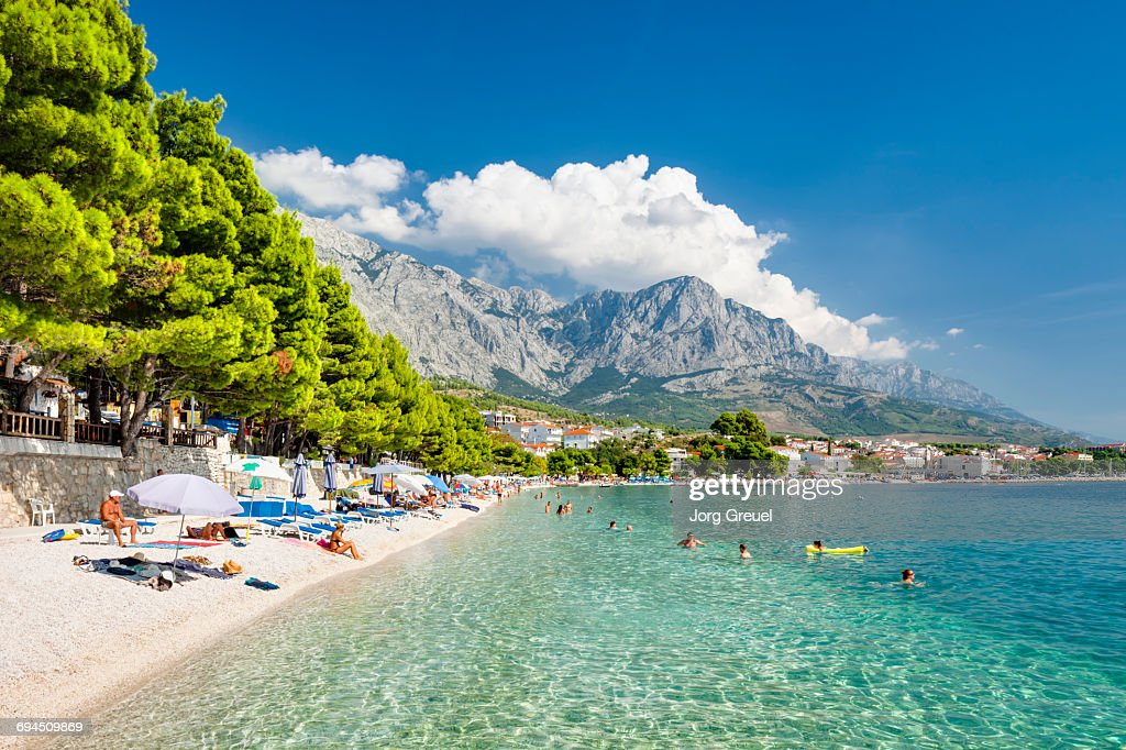 Makarska Riviera and Biokovo mountain range : Stock Photo
