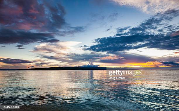 makarska riviera sunset - アドリア海 ストックフォトと画像