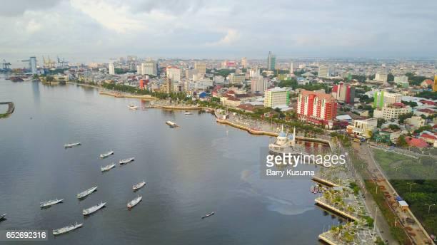 makassar city. - makassar stock pictures, royalty-free photos & images